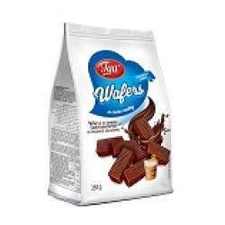 Wafers vanilj chokladdoppad - 250g