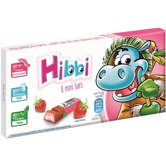 Hibbi Chokladbars - Jordgubb100g